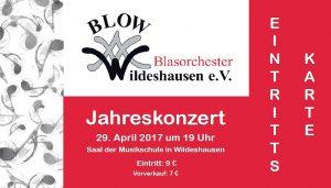 BLOW Jahreskonzert Eintrittskarte